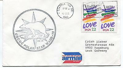 1986 USCGC Polar Star WAGB-10 Seattle Air Mail Antarctic Polar Cover