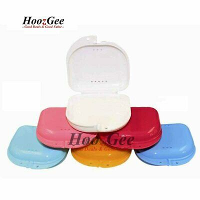 Dental Orthodontic Retainer Box Case Dentures Teeth Mouth Guard Brace Storage
