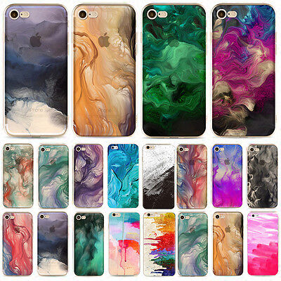 New Oil Painting Design Watercolor Soft Case Cover For iPhone 5 6 6Plus 7 7plus