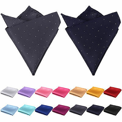 Mens Polka Dot Handkerchief Silk Pocket Square Hanky Multi Party Hankies UK