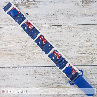 Australian Flags Dummy Clip - Pacifier Clips - Soother Chain (DC100342)