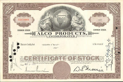 American Locomotive Company > Alco Products stock certificate share > New York