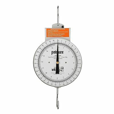 Rubbermaid Commercial Heavy Duty Steel Mechanical Hanging Scale with Dial 70 X X