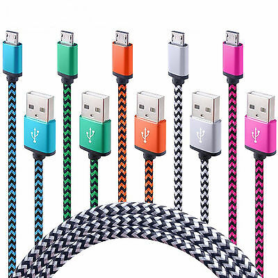 CHARGEUR UNIVERSEL MICRO USB CABLE DATA SYNC SAMSUNG WIKO SONY HTC LOT 1m 2m 3m