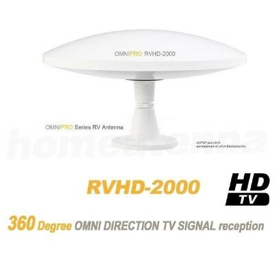Lava RVHD-2000 OmniPro RV and Marine HDTV Antenna - Up to 100 miles - White