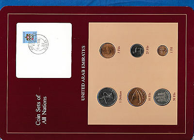Coin Sets of All Nations UAE United Arab Emirates UNC 1973-1984 1 Fil 1975