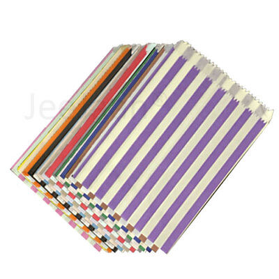 Candy Stripe Paper Bags Sweet Buffet Gift Shop Party Sweets Cake Birthday