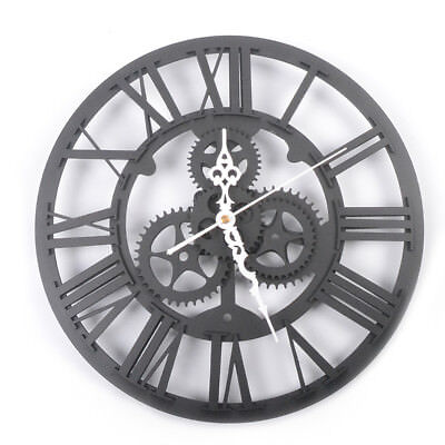 NEW TYPE Modern Large Black Wall Clock Home Decoration for Kitchen Dining Room