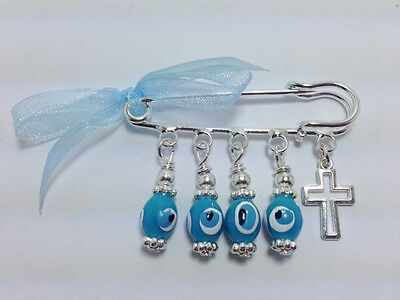 Lucky Evil Eye Safety Pin - Protection For Newborn - Baby