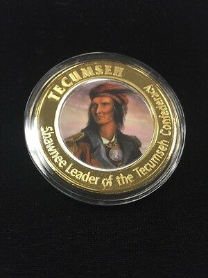 16th In Series Tecumseh, Shawnee Warrior Leader .999 Pure Silver