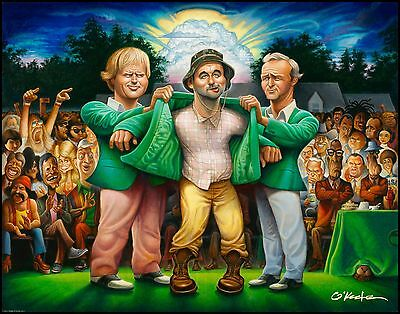 """The Green Jacket. Offset Print 22"""" by 28"""" By Artist David O'keefe"""