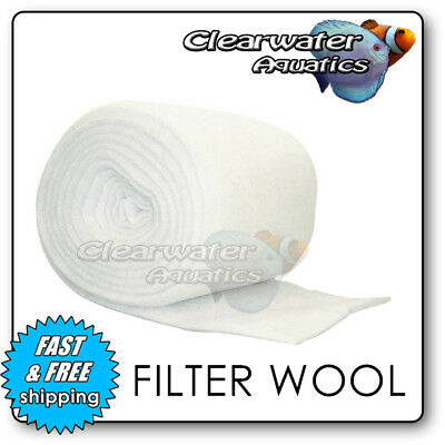 Filter Floss Wool Media Roll Aquarium Pond 100Gsm  Fish External Tank Marine