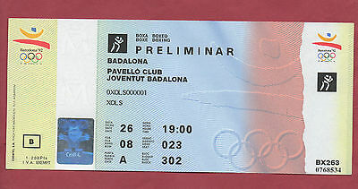 Orig.Ticket    Olympic Games BARCELONA 1992  -  BOXING / 26.07.  !!  VERY RARE