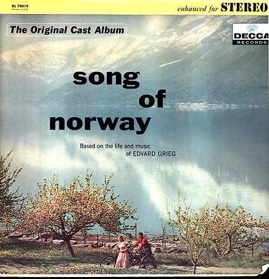 Song Of Norway Lp Life & Music Of Edvard Grieg O/C Album