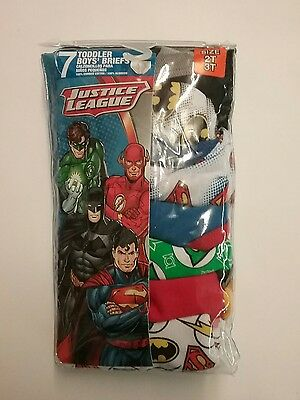 NEW Handcraft JUSTICE LEAGUE 7-pack Toddler Boys Briefs Size 2T/3T
