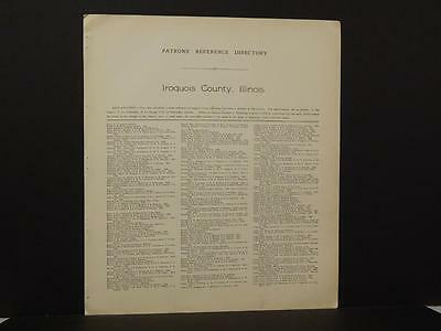 Illinois Iroquois County Map Patron's Reference Directory 1921 J6#64