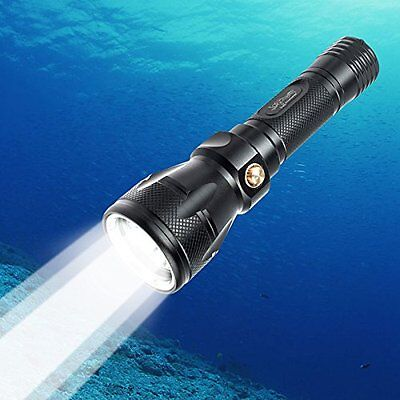 TurnRaise Scuba Dive LED Flashlight 1200Lumen XM-L2 Underwater Torch 100m Light