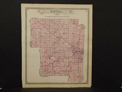 Illinois Clark County Map Marshall Township 1916   J6#85