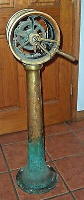 Marine Brass Ships Engine Telegraph Throttle Station Antique Old Rare Maritime