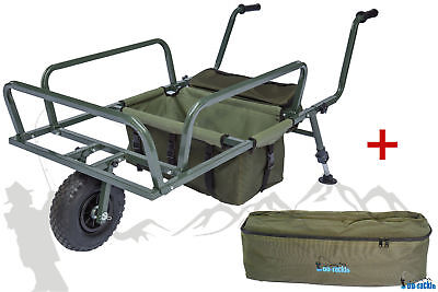 NEU Angel Trolley & Bag Karpfen Transportwagen Transportkarre Barrow Tacklekarre