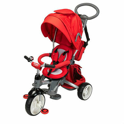 Kids Red 6 in 1 Trike Pushchair Baby Toddler Bike Ride On Tricycle With Handle