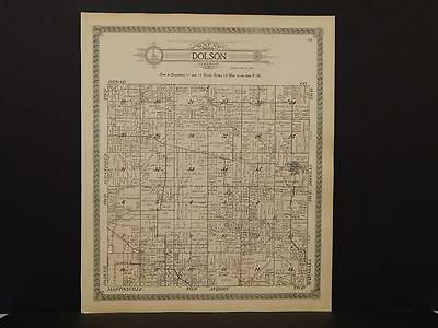 Illinois Clark County Map Dolson Township 1916   J6#88