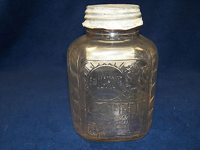Sunshine Brand Coffee Jar With Lid And Lion On Front