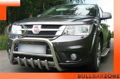 Fiat Freemont Tubo Protezione Medium Bull Bar Inox Stainless Steel