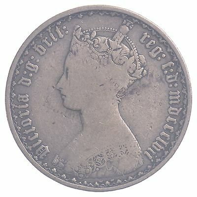 1857 Great Britain Silver One Florin/One Tenth Of A Pound Queen Victoria *4660