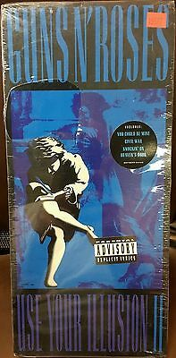 1991 GUNS N ROSES USE YOUR ILLUSION II LONGBOX CD SEALED! crue ac/dc kiss halen