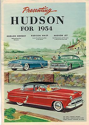 Big 1954 HUDSON Brochure / Catalog: WASP,HORNET,JET LINER, SUPER,
