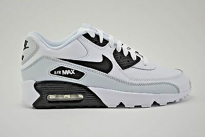 the latest 18c1b 03cfb Nike Air Max 90 LTR GS Running Shoes Youth Size 5Y White Black Grey 833412  104