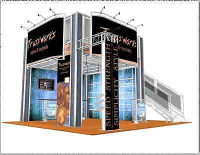 Double Deck Trade Show Booth Exhibit 20 x 20 Display