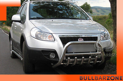 Fiat Sedici 2006-2014 Tubo Protezione Medium Bull Bar Inox Stainless Steel