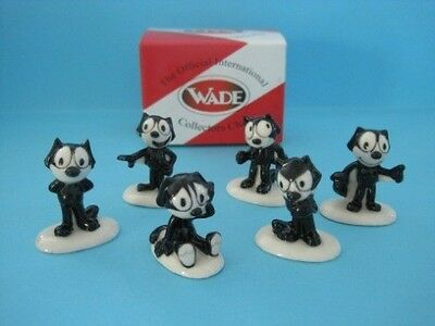 Set Of Six Wade Felix The Cat Whimsies, 2011 *mint Condition*