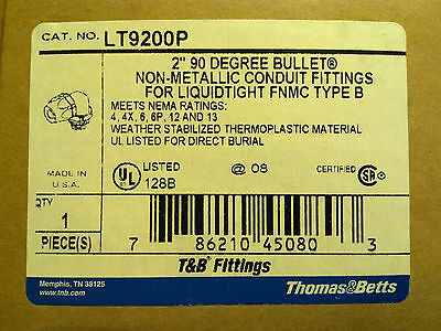 "Thomas & Betts LT9200P Bullet Connector, 90 degree, 2""  --------LOT OF 4--------"