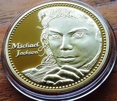 Michael Jackson Finished In Gold .999 1oz Coin New King Of Pop Medallion New