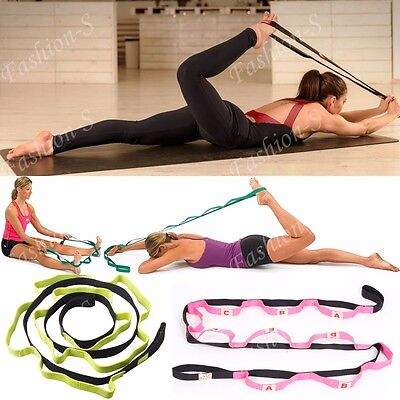 CFR Yoga Strap Stretch Multi-Grip Fitness Pilates Stretching Belt Exercise Gym G