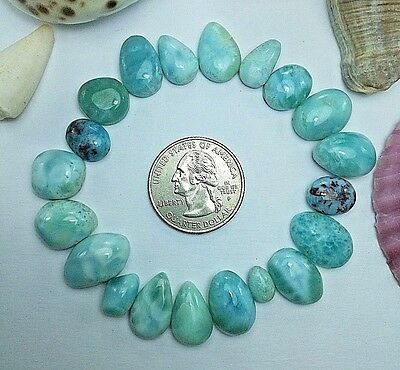 Larimar Cabs Cabochon NICE PATTERN From DR