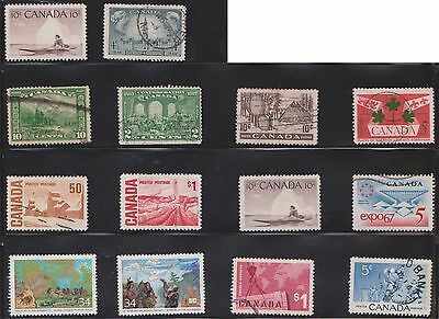 (U21-6) 1928-80 Canada mix of 42stamps value to $1.00 (F)