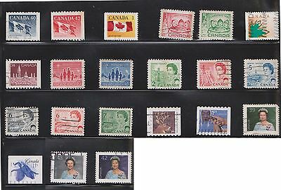 (U21-1) 1950-80 Canada mix of 76stamps value to 76c (A)