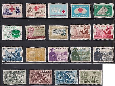 (U21-28) 1950-60 Colombia mix of 59stamps value to $1.00 (F)