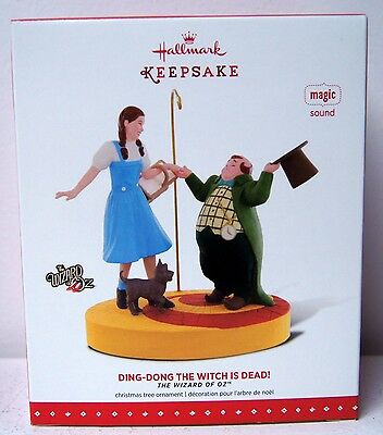 Hallmark 2015 NIB Ding Dong The Witch Is Dead Ornament Wizard Of Oz Magic Sound
