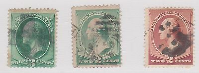 (Q21-85) 1870 USA mix of 3stamps 2c& 3c
