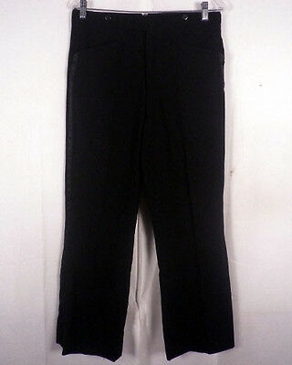 vtg 60s L & D FORMALS SILK STRIPED TUX TUXEDO PANTS TROUSERS bell bottom 32 X 29