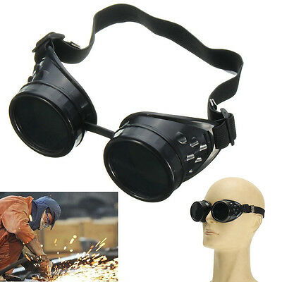 Black Welding Cutting Welders Industrial Safety Goggles Steampunk Cup Goggles
