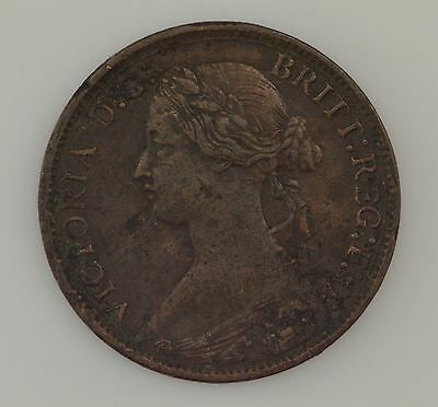 1873 Great Britain Farthing Queen Victoria *2528
