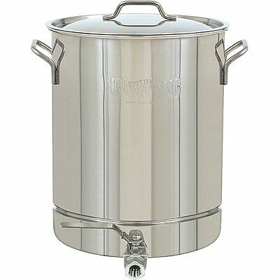 Bayou Classic 8 Gal Stainless Steel Stock pot Spigot 32 qt Silver Spout Cooking