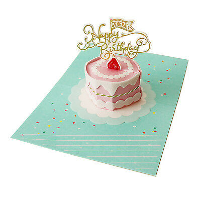 Petite Sweet Birthday Cake Pop Up Greeting Card