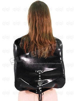 Latex/Rubber 0.8mm Straight Jacket Coat catsuit binder